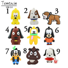 100% Real Capacity 4 Colors Cute Puppy Pen Drive Animal Dog USB Flash Drive PenDrives 4GB 8GB 16GB Memory Stick Free Shipping
