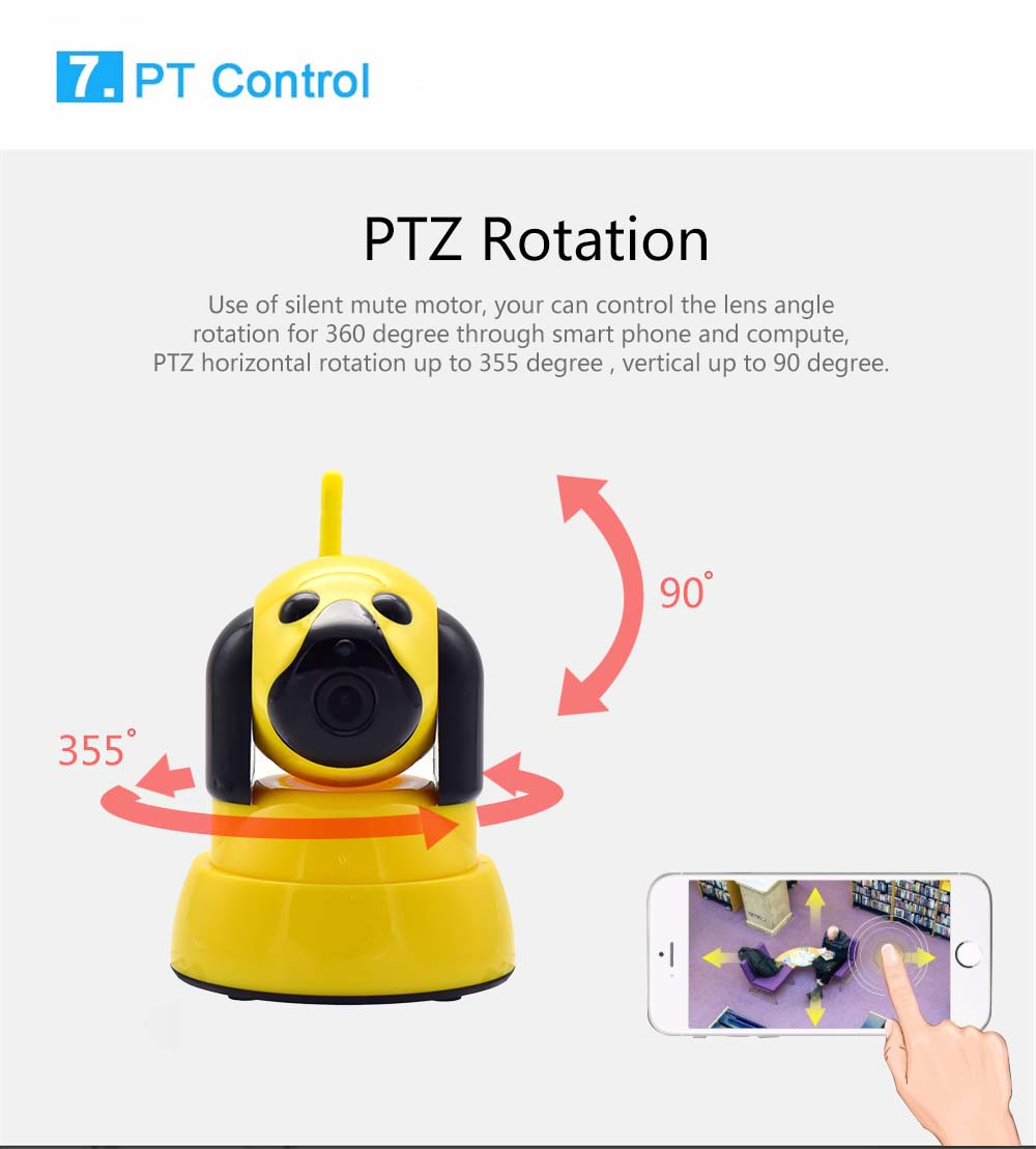 Wistino 720P Wireless IP Camera Motion Detection Home Baby Monitor IR Night Vision WiFi Camera Alarm Onvif Surveillance Security (14)