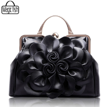 New Fashion Big Flower Women Handbag Famous Brands Design Female Tote Luxury Women Bags Lady Tote Pouch Leather Handbags C0502/l