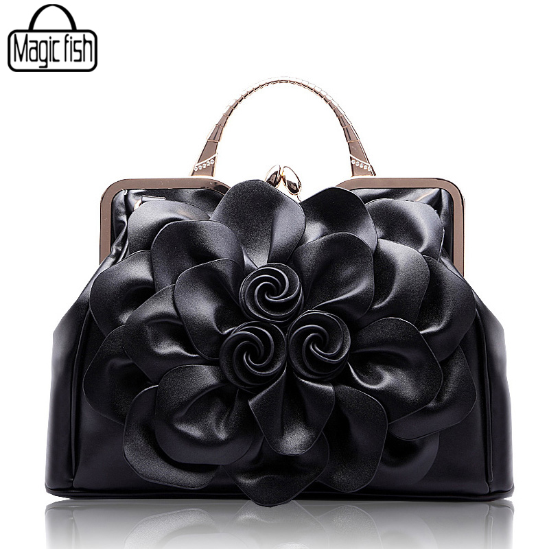 New Fashion Big Flower Women Handbag Famous Brands Design Female Tote Luxury Women Bags Lady Tote Pouch Leather Handbags C0502A<br>