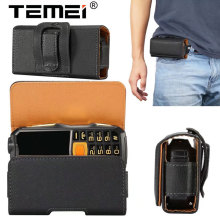 Old Men Phone Bag Loop Belt Holster Pouch PU Leather Horizontal Case for Old Phone for ZTE L660 For Neken EN3 for Gionee W909(China)