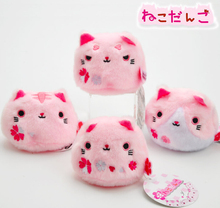 Japanese Anime Kutusita Nyanko 4pcs Pink Cat Characters Plush Toy Stuffed Doll House Decoration Puppet Gift Playset