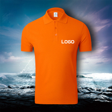 OEM Custom Women Men Short-Sleeve POLO shirt Quick dry cloth Brand Poloshirt Men Casual Polo Shirt customized logo Drop Shipping