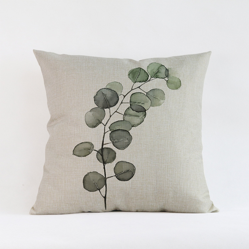 Tropical-Plants-Palm-Leaves-Cactus-Cushion-Pillow-Case-Hand-Painting-Green-Plants-Sofa-Throw-Pillow-Cover (3)