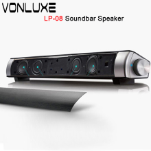 Sound Bar Wireless Bluetooth Speaker Soundbar LP-08 HIFI Box Subwoofer Boombox Stereo Sound Bar Portable Speakers for Cellphone