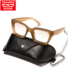 TRIUMPH VISION 2017 Optical Myopia Clear Lens Glasses Frame Fashion Square Spectacle Frame Thick Transparent Eyewear Frames(China)