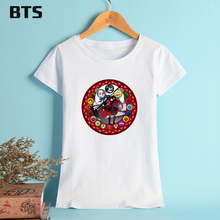 BTS RWRY T-shirt Women American Original Network Animation Basic T Shirt Women Summer Short Sleeve Pure Cotton Tees And Tops XL(China)