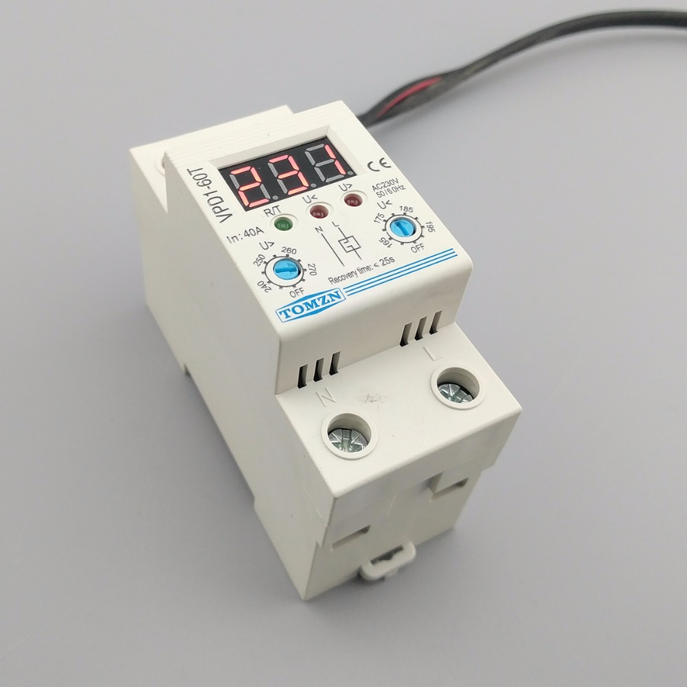 68c6f7cb55a 40A 220V adjustable automatic reconnect over voltage and under ...