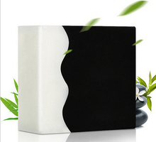 Plant bamboo charcoal hand oil soap oil to blackheads clean pores wash face soap 125g(China)