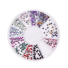 Many Styles Wheel Charms For 3D Nail Art Decorations Fruit Animal Beads Metal Plant Many Shapes Colors DIY Nail Tips Stickers(China)
