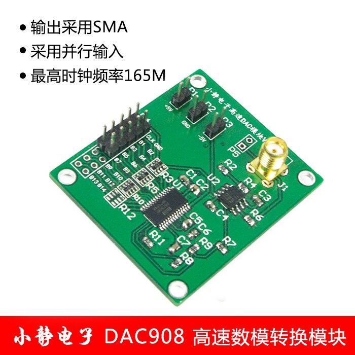 DAC908 High Speed Digital to Analog Converter Module (8bit, 165MHz) Manual Welding Electric Module<br>