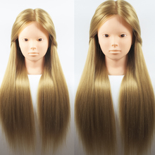 26''Blonde Professional Styling Head ,Wig Head Stand Women Makeup Hairdressing Dummy Doll Training Head , Hair Mannequin Head