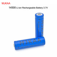 2X 14500 1200mAh 3.7V Li-lon Rechargeable Battery High Quality AA rechargeable battery for flashlight whole