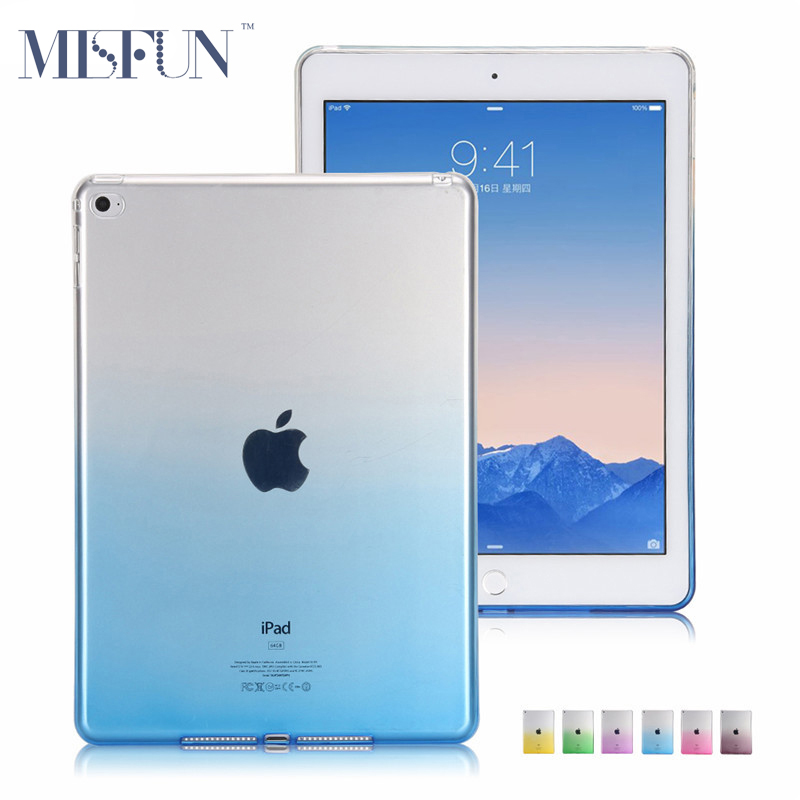For iPad 2 3 4  Ultra Thin Gradient Colorful Soft Case TPU Shell Silicon Protective Skin for iPad Mini 1 2 3 Tablet Cover A4750<br><br>Aliexpress