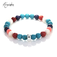 Thomas Coral Cyan Stone Colorful Material Mix Featuring Charm Bracelet, Glam Jewelry Soul Gift for Women TS 366