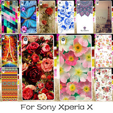 TAOYUNXI Silicone Plastic Phone Case For SONY Xperia X Dual F5122 F5121 Colorful Rose Flower Cover Bag Shell For SONY Xperia X