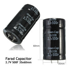 Black 2.7V 500F 35*60MM Super Farad Capacitor Free Shipping