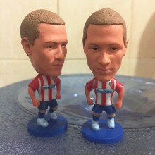 Soccerwe 2017 Season 2.55 Inches Height Football Player Dolls MAC Atletico Torres 9 Torres Figure Red White Kit Collection Gift