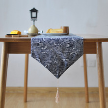 New Sale Japanese Style Gometric Home Table Runner Cotton Printed Tables Runners For Wedding Party