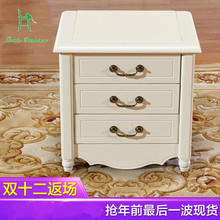 Cedar trees completely real wood ark pure cedar white double color rural pastoral bedside table to receive ark(China)