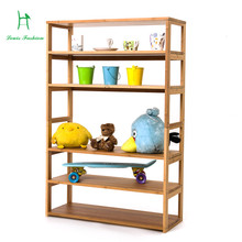 Solid bamboo storage receive improvised clapboard shelf water the be born bookcase(China)