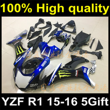 Complete Plastic Body Fairing Kit Set For YAMAHA YZF R1 2015 2016 15 16 Fairing Y15-1188