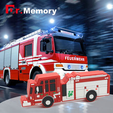 fire fighting truck pendrive truck usb flash drive Fire engine USB flash drive u disk 4GB 8GB 16GB 32GB flash memory sticks 64gb(China)