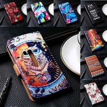 Mobile Phone Cover For Nokia Lumia 720/920/929/1020/X/X2/XL Cases Hard Plastic Black Inner Flip PU Leather Phone Bags Skin