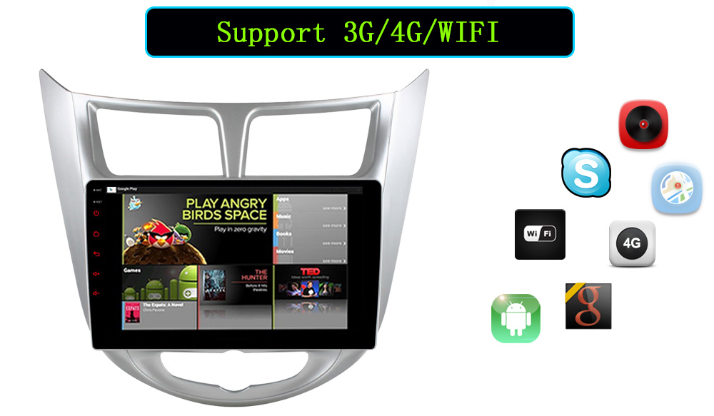 Quad Core 1024600 Android 6.0 Car DVD GPS Player For Solaris Verna Accent Car PC Headunit Car Radio Video Player Navigation best