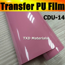 50CMX25M Wholesale cutter plotter transfer pu vinyl with high quality , pu transfer vinyl film by free shipping CDU-14 PINK