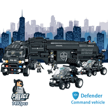 2017 new  Boys toys Large Special Police Military Station Truck City Swat Models Building Toy Blocks Set Children Education Toys