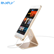 RAXFLY Aluminum Metal Phone Holder Desktop Universal Non-slip Mobile Phone Stand Desk Holder for iPhone Pad For Samsung Tablet(China)