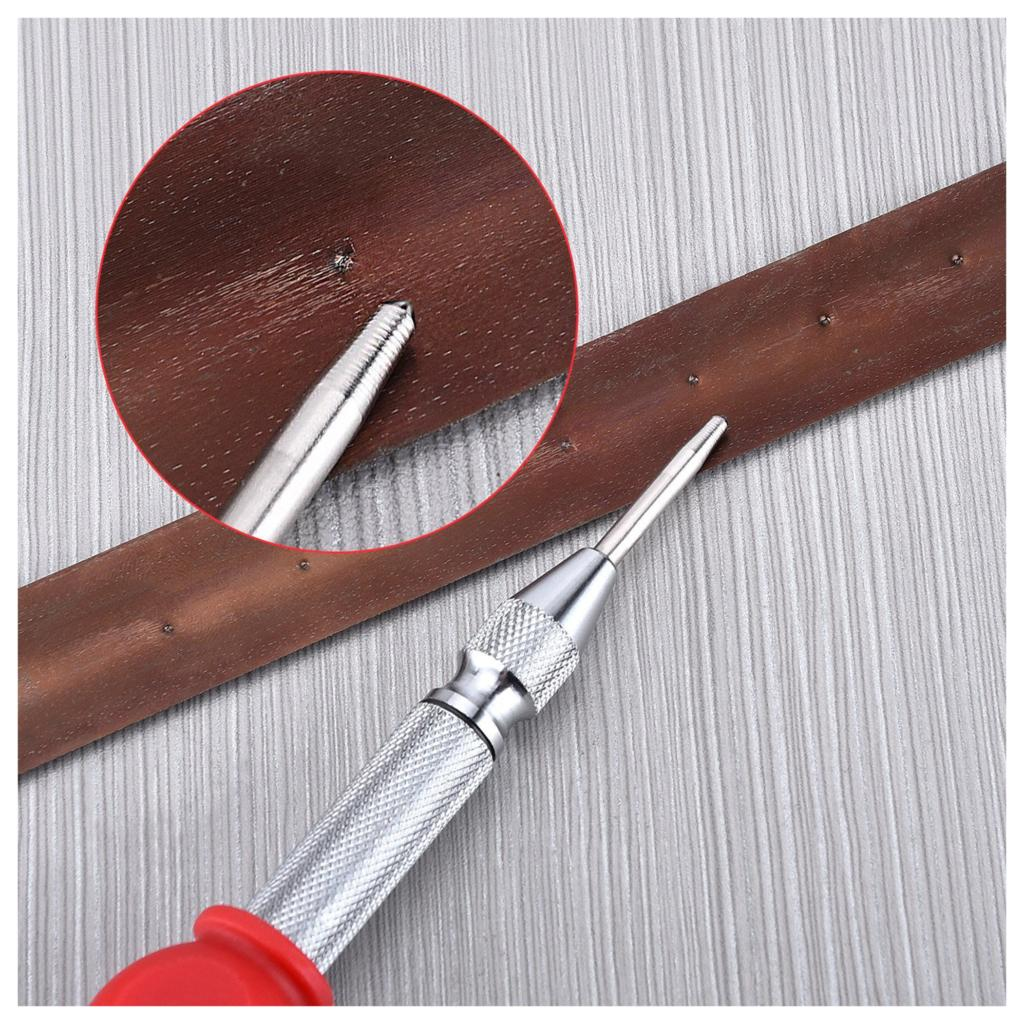 herramienta para romper ventanas con tapa de coj/ín y impacto ajustable dorado 1 punz/ón autom/ático de 5 pulgadas para perforar agujeros en el centro