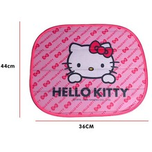 2PCS Hello Kitty Side Sun shade window Screen Visors Car Truck Accessories Car Side Window Sunshade Auto Windshield cover