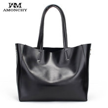 100% Genuine Leather Women's Handbags Natural Skin Ladies Shoulder Bags Designer Brand Totes Large Imported Cowhide Woman Bag 22