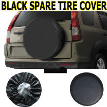 "Universal Black Spare Tire Cover Car PU Wheel Auto Tyre Case RV Truck Trailer Camper Vinyl 14"" 15"" 16"" 17"""