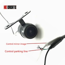 HE CREATE Waterproof CCD Car Vehicle Rearview Front Side View Backup Reversing Camera with or without Mirror Image Convert Line(China)