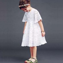Summer baby Lace white tutu dress lovely princess newborn infant dresses vestido
