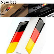 Newbee 3D Germany Flag Lift Car Sticker Badge Emblem Wrench Handle Seat Trim Cover Decal For Volkswagen VW Golf 5 6 MK5 MK6 GTI(China)