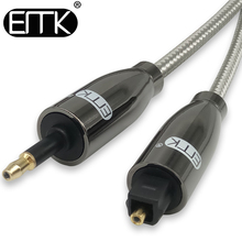 EMK Digital Sound Toslink to Mini Toslink Cable 3.5mm SPDIF Optical Cable 3.5 to Optical Audio Cable Adapter for Macbook 1m 10m