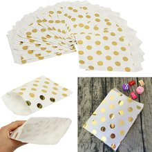 25pcs/lot Wedding Foil Paper Bag Candy Paper Bags Gold Favors Birthday Gifts Decoration Children's Day Party Supplies(China)