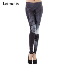 Buy Leimolis Spring High Waist punk rock harajuku workout push fitness sexy gothic 3d print moon night tree women leggings for $9.31 in AliExpress store