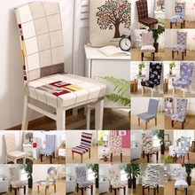 1pcs Plaids Flower Pattern Stretch Home Decor Dining Chair Cover Spandex Decoration covering Office Banquet chair Covers 43019(China)
