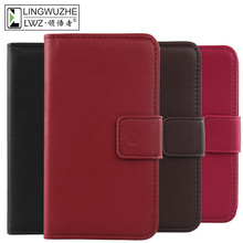 Buy LINGWUZHE Cell Phone Genuine Leather Wallet Cards Cover Protector Pouch Case Doogee DG350 for $8.99 in AliExpress store