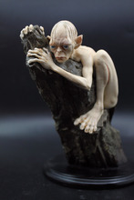Movie Lord of the Rings Gollum action figure Brozen Color Paint Statue the Golden desk car Model The Hobbit novelty Figures 15CM(China)