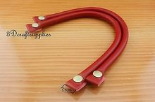 Purse leather handles handbag handle bag handle 13 3/4 inch a pair red CK62B(China)