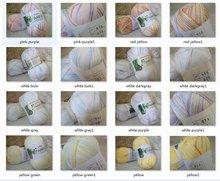 4*50g Skeins Soft Bamboo Cotton Silk Mix color Yarn Lot;200g,white purple black, pink, blue, green more color can be choosed