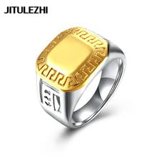 Hot Titanium steel ring for men women unisex jewelry anel masculino Free Shipping Wholesale Retail Not allergic direct deal(China)