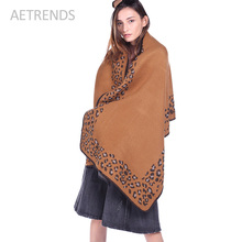 [AETRENDS] 2017 New Winter Leopard Pashmina Women Scarves and Shawls Vintage Wrap W371