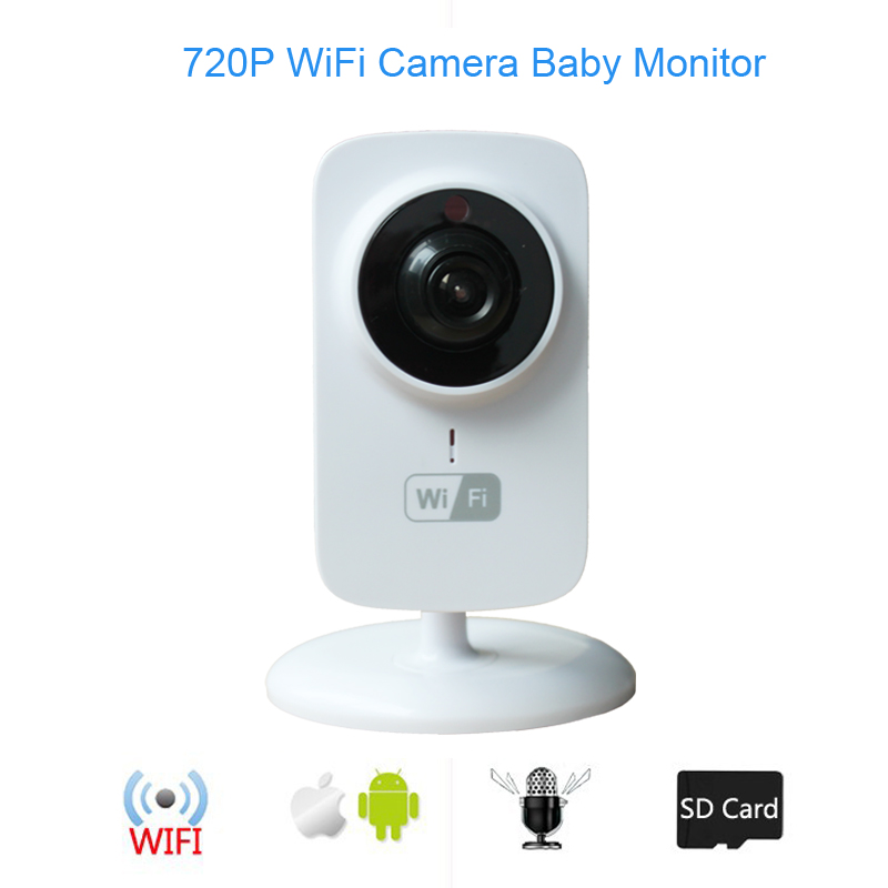 Hot Wireless Baby Video Monitor  720P IP Camera Baba Eletronica support Night Vision Intercom for iPhone Android PC<br>